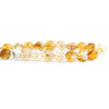 9mm-10mm Citrine Carved Faceted Coin Beads 8 inch 24 pieces