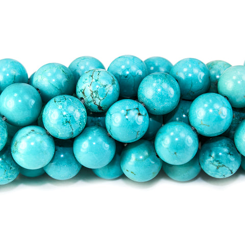 10mm Turquoise Magnesite polished round Beads 15.5 inch 39 pieces