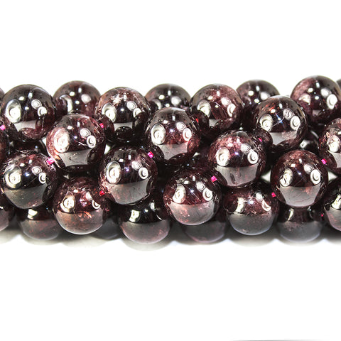 10mm Red Garnet polished round Beads 15 inch 36 pieces