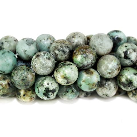 10mm African Turquoise polished round Beads 15 inch 37 pieces