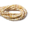 6mm Light Sunstone faceted round beads 15.25 inch 70 pieces