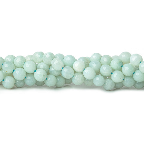 6mm Amazonite faceted round beads 15.5 inch 66 pieces AAA Quality