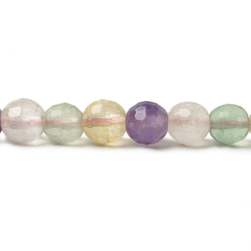6mm Multi Gemstone Faceted Round Beads 15.25 inch 67 pieces