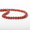 6mm Carnelian Agate faceted round beads 14.5 inch 64 pieces