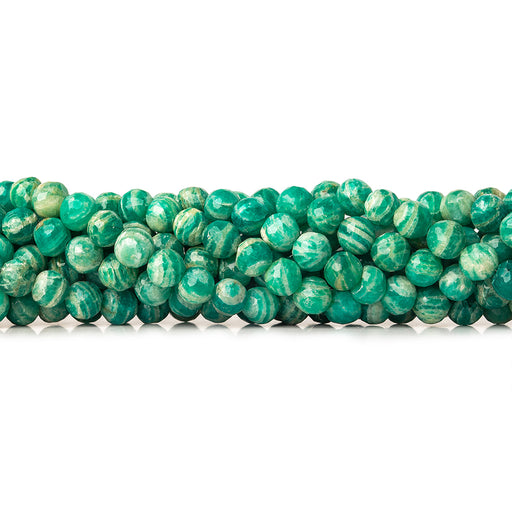 6mm -7mm Russian Amazonite faceted round 8 inch 33 pieces