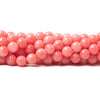 6mm Pink Coral plain round beads 15 inch 60 pieces