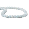 6mm Aquamarine plain round beads 15 inch 60 pieces