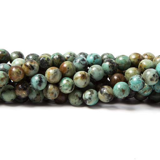 6mm African Turquoise plain round beads 15 inch 60 pieces