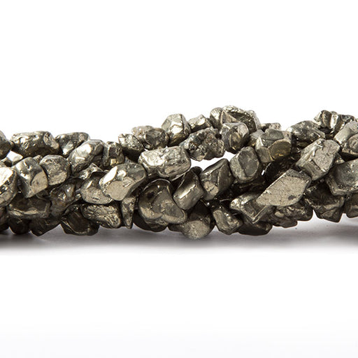 7x5-4x3mm Pyrite Tumbled Nugget Beads 15 inch 75 pieces