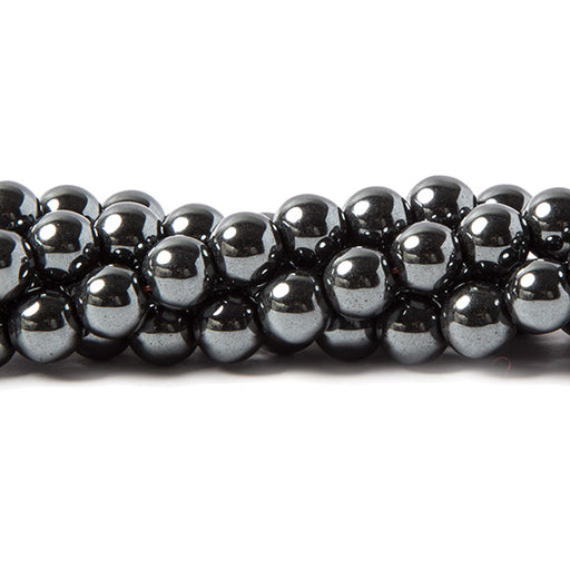 6mm Hematite plain round Beads 15.5 inches 69 pieces