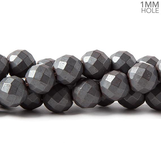 10mm Matte Hematite faceted round beads 15.5 inch 43 pieces