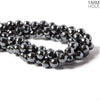 10mm Hematite faceted round Beads 16 inches 45 pieces