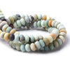 10mm Frosted Amazonite plain rondelle beads 15.5 inch 63 pieces