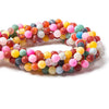 8mm Frosted Multi Color Crackled Agate plain round beads 14.75 inch 45 pieces