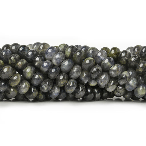 6-6.5mm Iolite plain rondelles 90 beads 15.5 inch