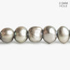 10x8mm-11x9mm Warm Silver Large Hole Baroque Freshwater Pearls 16 inch 48 pieces