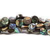 8mm Abalone Shell plain coin Beads 16 inch 50 pieces