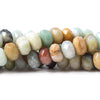 10mm Multi-Color Amazonite faceted rondelles 15 inches 60 Beads