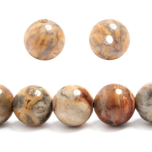 12mm Red Creek Jasper plain round beads 7 inches 16 pieces