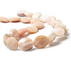 17x15mm Pink Peruvian Opal Faceted Oval Beads 16 inch 22 pieces