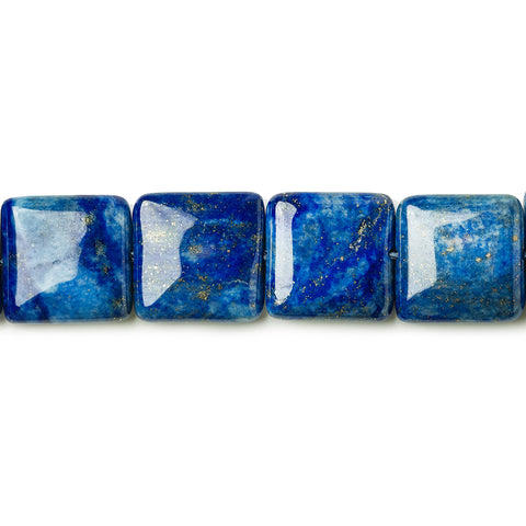 Top selling 14mm Lapis Lazuli plain square 15 inch 28 beads - Buy From The Bead Traders Online Store.