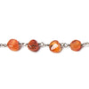 Top selling 6mm Shaded Carnelian plain coin Black Gold Chain by the foot 27 pcs - Buy From The Bead Traders Online Store.