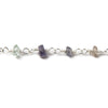 Top quality 2.8-3mm Multi Gemstone faceted rondelle Silver Chain by the foot 40 pcs - Buy From The Bead Traders Online Store.