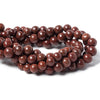 "Attractive 7-8.5mm Red Jasper plain rounds 47 beads 15"" length - Buy From The Bead Traders Online Store."