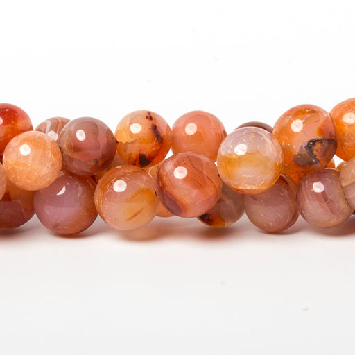8-9mm Carnelian Agate plain round beads 16 inch 43 Beads