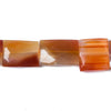 Attractive 10x10-16x12mm Carnelian banded Agate faceted Rectangle 15 inch 21 Beads - Buy From The Bead Traders Online Store.