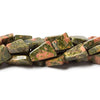 Premium quality 9x7-10x7mm Unakite plain straight drilled triangle 14 inch 35 Beads - Buy From The Bead Traders Online Store.