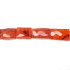 11x9-16x10mm Carnelian faceted Rectangle 14.75 inch 25 Beads
