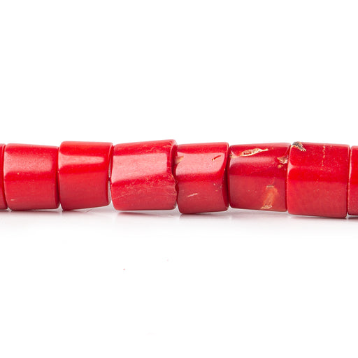 8x5-8x6mm Red Coral plain heshi 16 inch 58 Beads