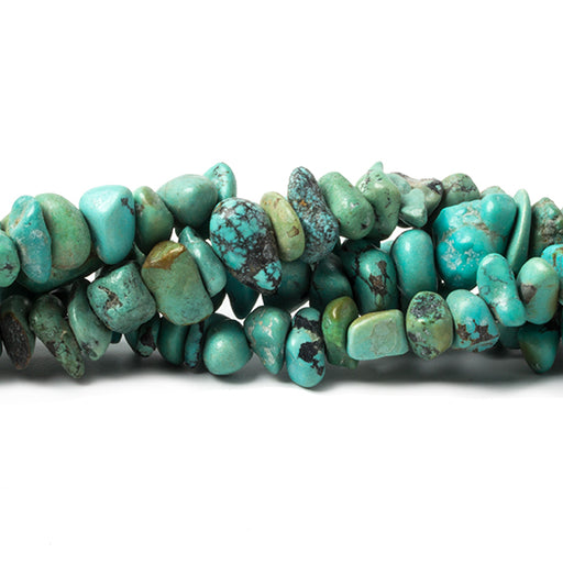 6x3-13x4mm Turquoise & Turquoise Magnesite plain chips 15 inches 80 Beads