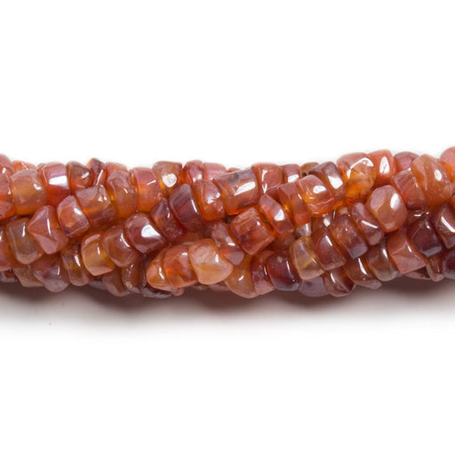 4.5mm Mystic Carnelian plain rondelle beads 12.5 inch 130 pieces