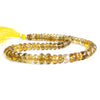 9mm Whiskey Quartz Faceted Rondelle Beads 17 inch 86 pieces