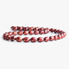 9mm Red Faceted Oval Freshwater Pearls 16 inch 45 pieces
