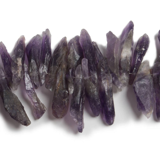17x5-24x6mm Dog Tooth Amethyst Natural Crystal Beads 13 inch 111 pieces