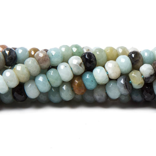 6mm Multi Color Amazonite faceted rondelle Beads 15 inch 98 pieces