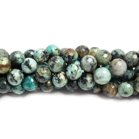 8mm African Turquoise faceted round Beads 15 inch 49 pieces