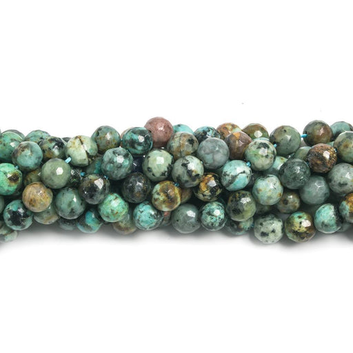 6mm African Turquoise faceted round Beads 15 inch 60 pieces