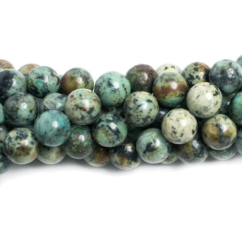 12mm African Turquoise plain round Beads 15.5 inch 32 pieces