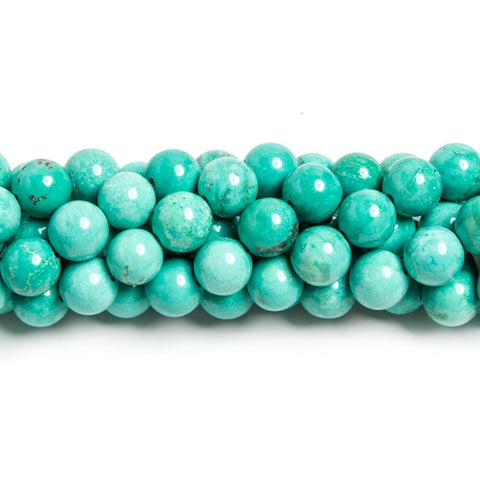 High quality 8mm Turquoise Magnesite plain round Beads 15.5 inch 52 pieces - Buy From The Bead Traders Online Store.