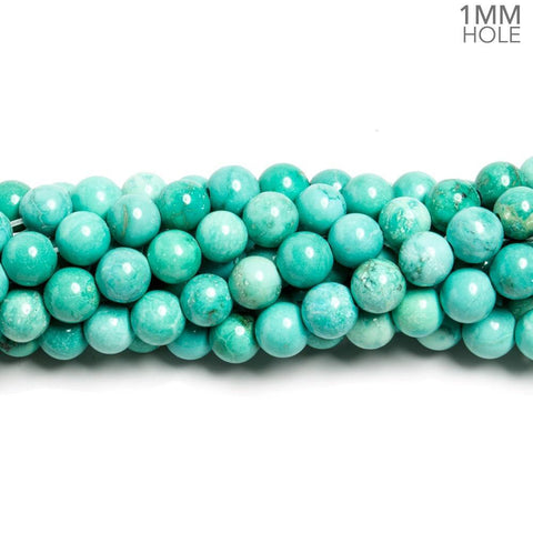 Attractive 6mm Turquoise Magnesite plain round Beads 15.5 inch 65 pieces - Buy From The Bead Traders Online Store.