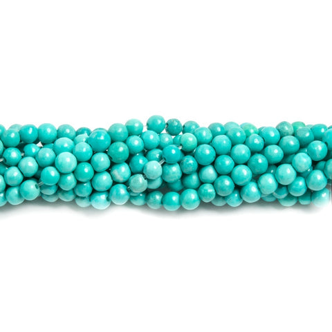 3mm Turquoise Magnesite plain round Beads 15.5 inch 135 pieces