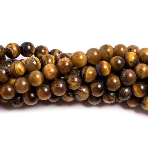 Beautiful 6mm Tiger's Eye plain round beads 15.5 inch 68 pieces - Buy From The Bead Traders Online Store.