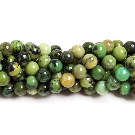8mm Chrysoprase & Lemon Chrysoprase plain round Beads 15 inch 52 pieces