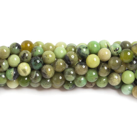 High quality 6mm Chrysoprase & Lemon Chrysoprase plain round Beads 15 inch 64 pieces - Buy From The Bead Traders Online Store.