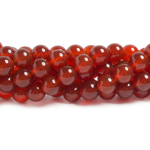 Best selling 8mm Carnelian plain round beads 15 inch 48 pieces - Buy From The Bead Traders Online Store.