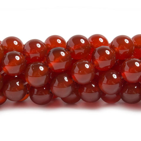 10mm Carnelian plain round beads 15 inch 39 pieces